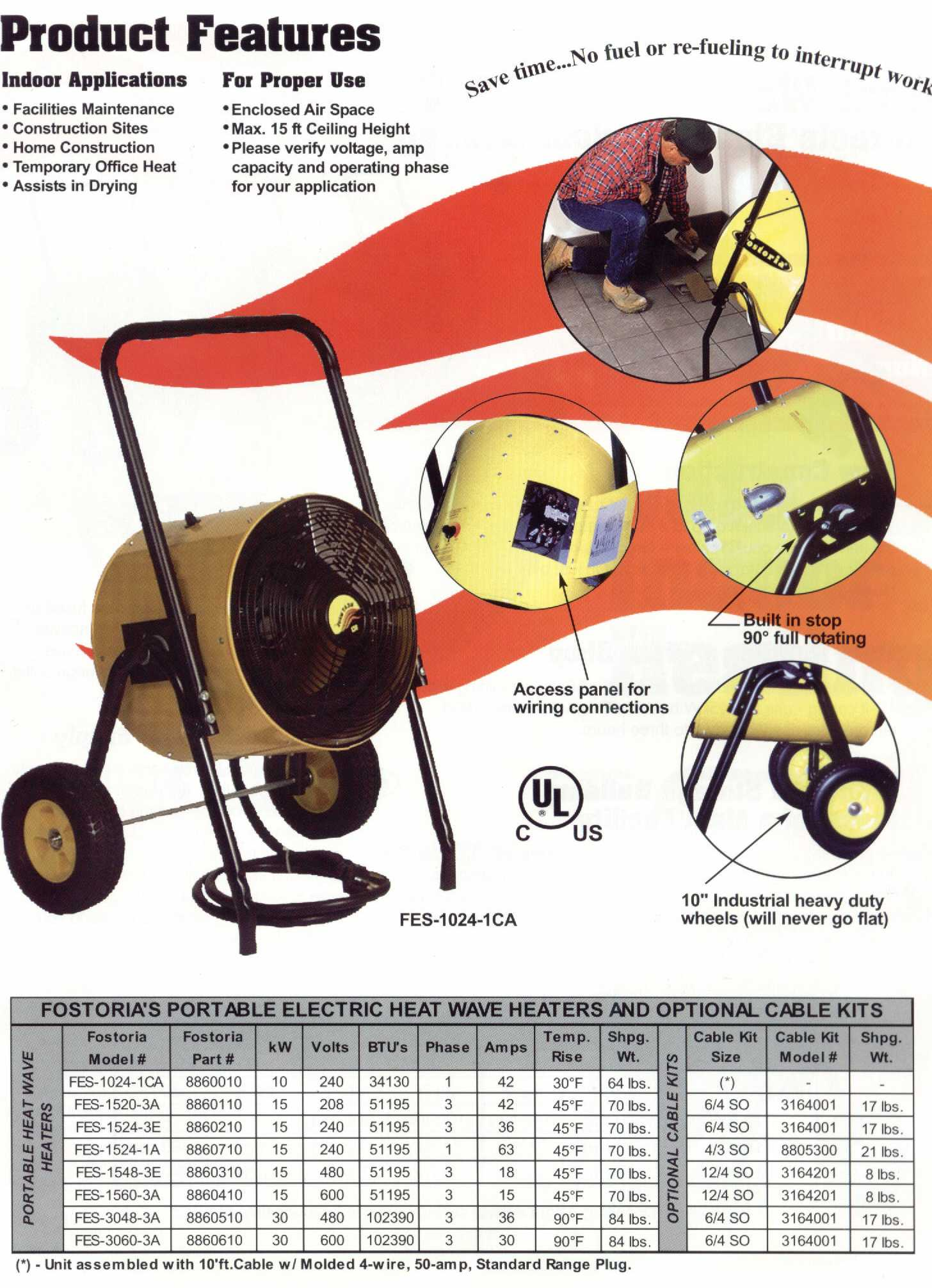 Heat Wave Specifications Electric Construction Heater