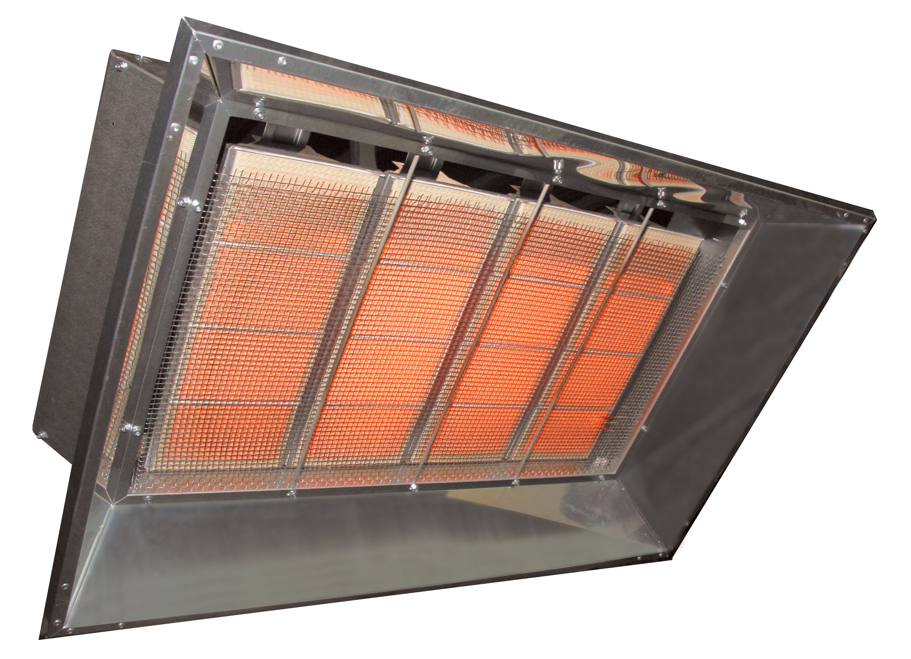 Enerco gas infrared garage heaters tube heaters gas for Infrared garage heaters